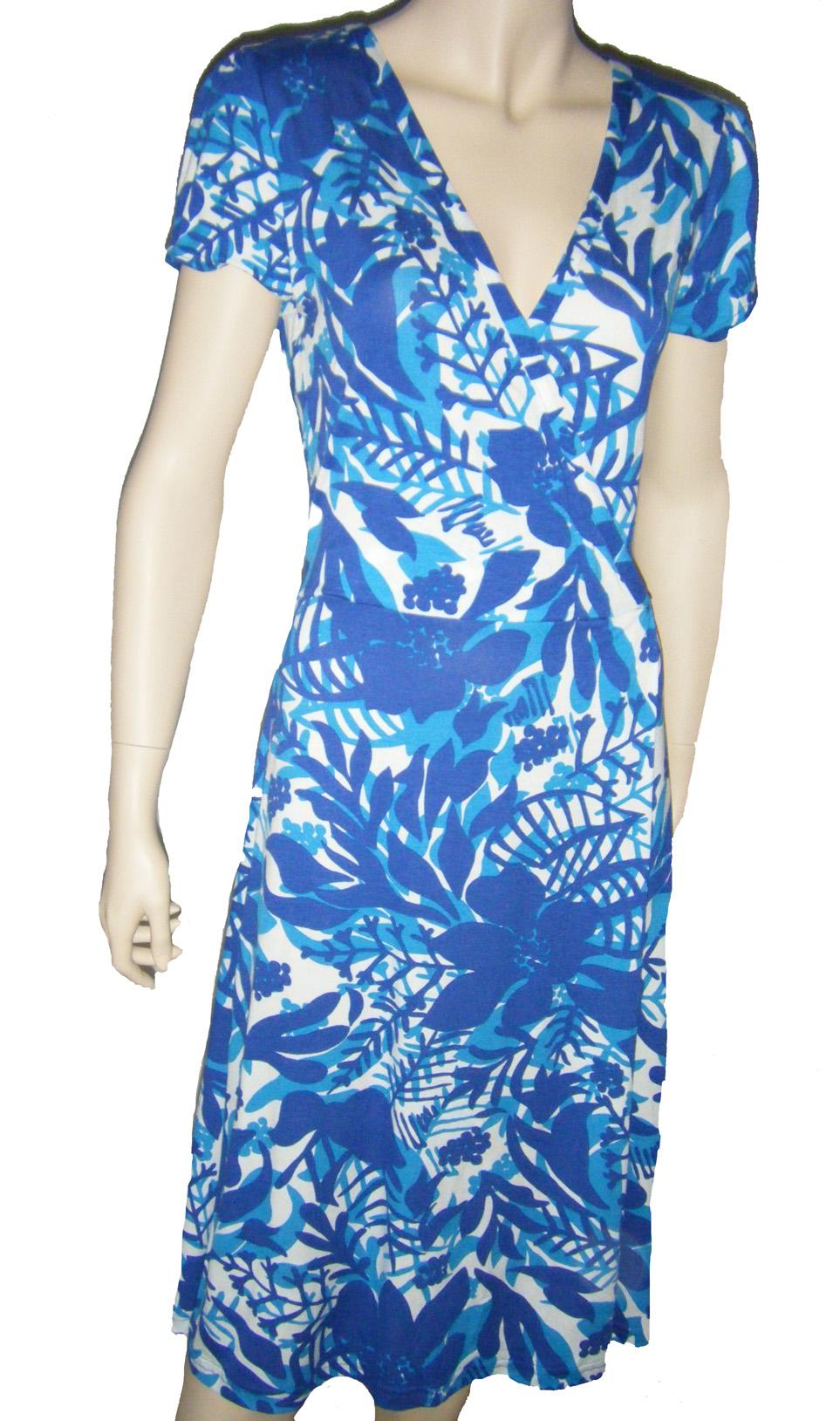 Dámské letní šaty - modré  92b2838285