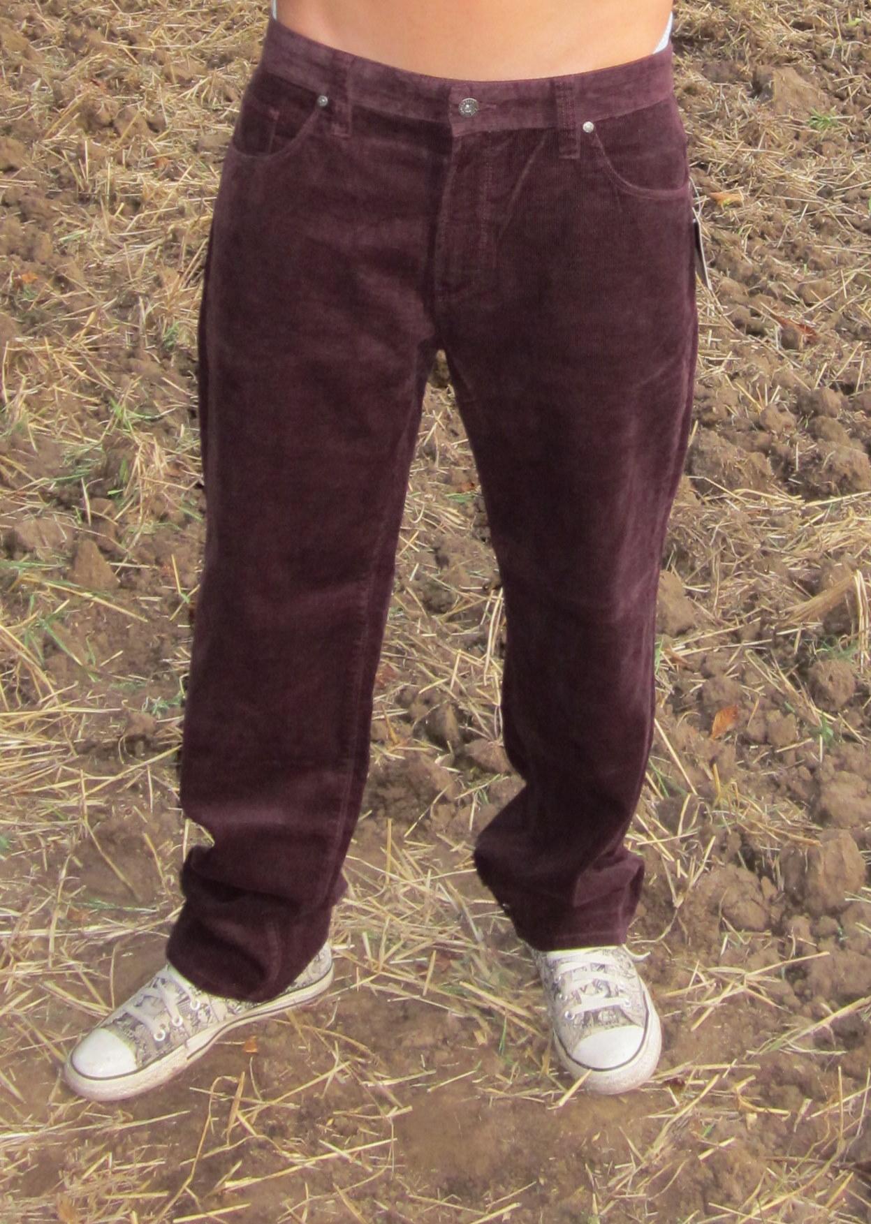 Pánské manšestrové kalhoty  9118dbd369